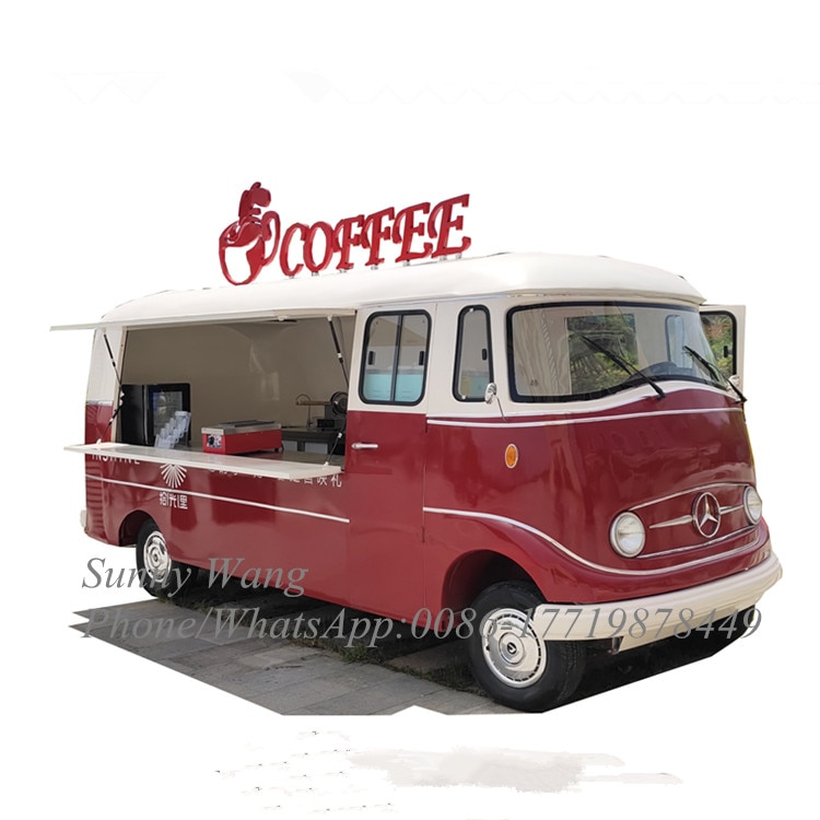 Remolques de Catering, camiones de comida rápida móviles, carrito chino para perros calientes, camión de aperitivos móvil, camión eléctrico de alimentos, cafetería, camión de comida