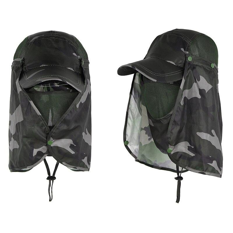 Кепки для охоты, стрельбы, Мультикам, мужские и женские шляпы с защитой от солнца, летние водонепроницаемые кепки с откидной крышкой для лиц...