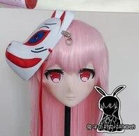 rabbit 111 resin cross dress lolita girl head bid doll mask japanese anime production i g yuzuriha inori kigurumi mask cosplay