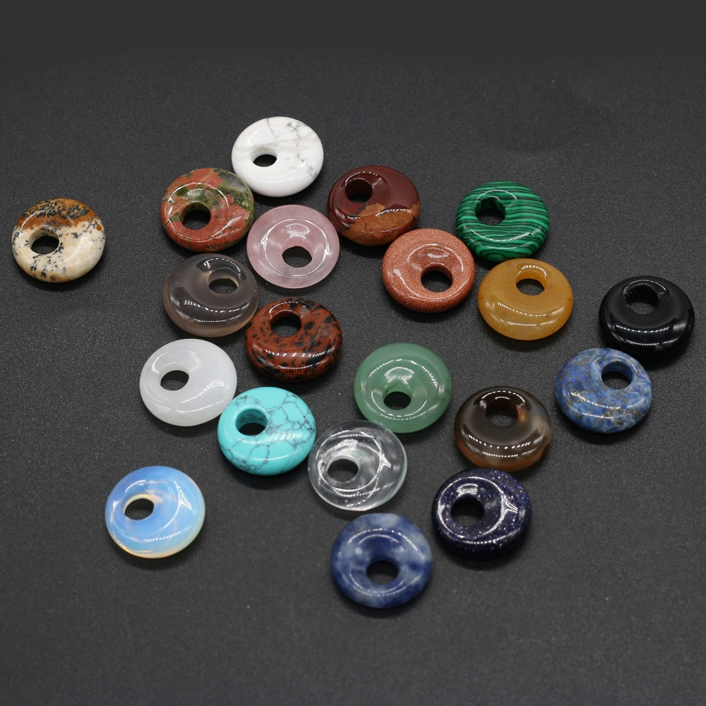 5Pcs Hot Sale Natural Stone Beads Round Big Hole Loose Bead For Jewelry Making DIY Necklace Bracelet Earrings Accessory