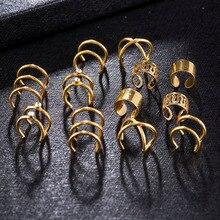 12 pièces/ensemble mode oreilles pince sur boucles doreilles sans oreilles percées femme Valentine cadeau pour ami boucles doreilles bijoux pour les femmes
