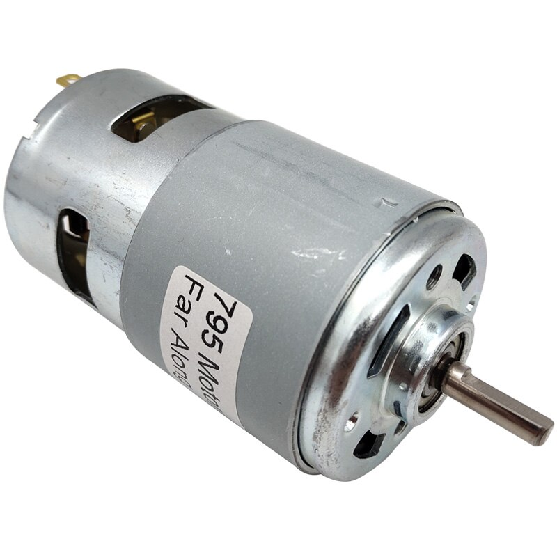775 795 895 potentes motores eléctricos pequeños de alta velocidad DC con rodamientos de bolas y ventilador de refrigeración Micro Motor de alto par para cortar