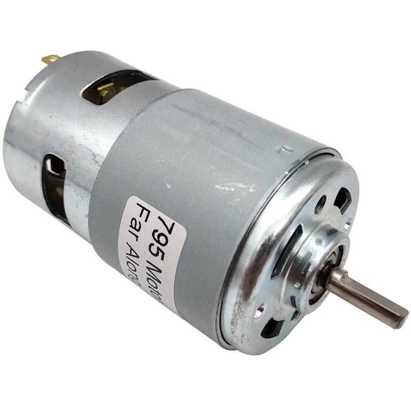 775 795 895 мощный Электрический Небольшой высокоскоростной двигатель постоянного тока с шариковыми подшипниками и охлаждающим вентилятором с высоким крутящим моментом микро мотор для резки