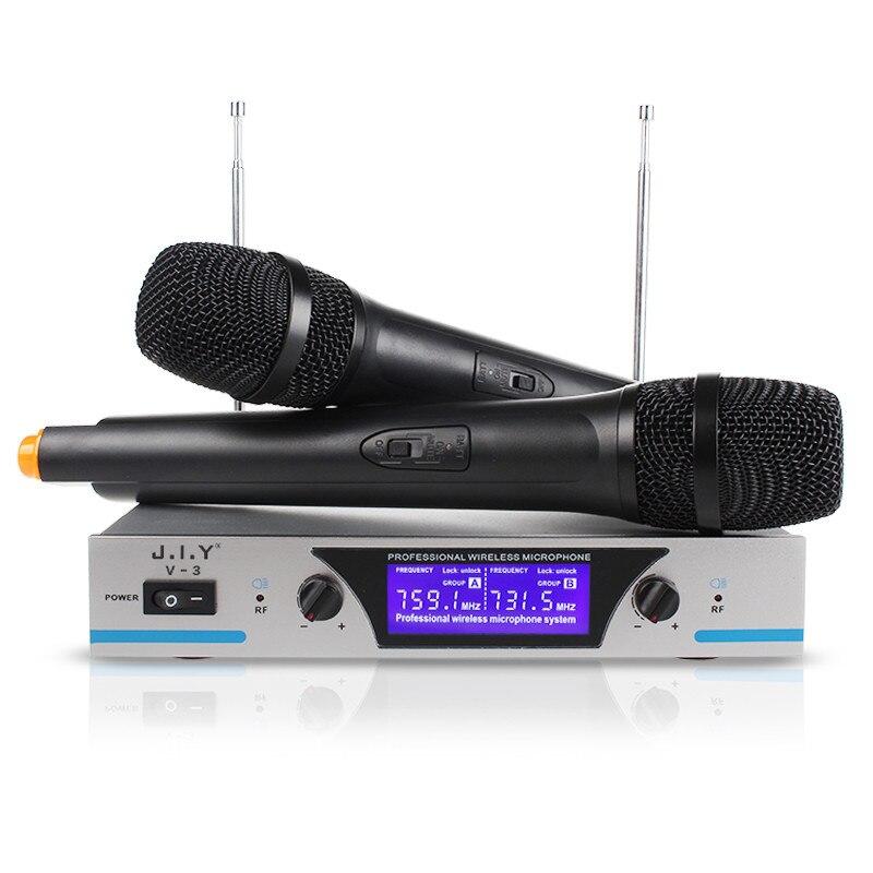 ميكروفون كاريوكي لاسلكي محمول باليد ، مشغل كاريوكي منزلي ، خلاط صوت رقمي ، آلة غناء V3