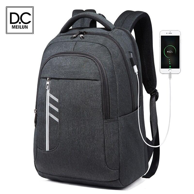 Мужской рюкзак DC.meilun, дорожный рюкзак, мужской водонепроницаемый 15,6 дюймовый ноутбук, противокражный деловой рюкзак, мужской рюкзак