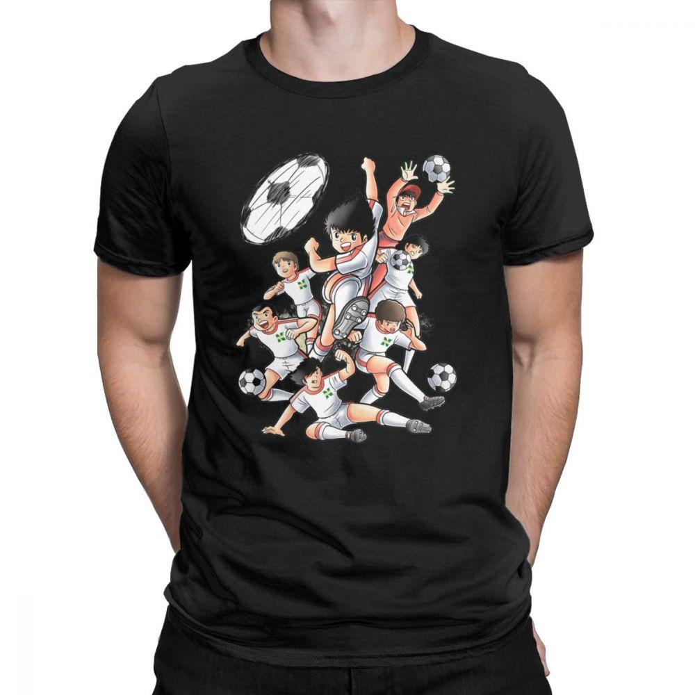 Men Captain Tsubasa Newteam T-Shirt Fashion O-neck Short Sleeve Shirt Men Cotton Tees Streetwear