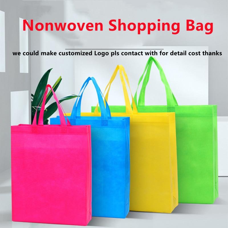 Fashion Women Tote Shopping Bag Qualify Non-Woven Handbags 100pcs In Sell Women Bags Gift Bag Eco Friendly Supmarket Women Bags