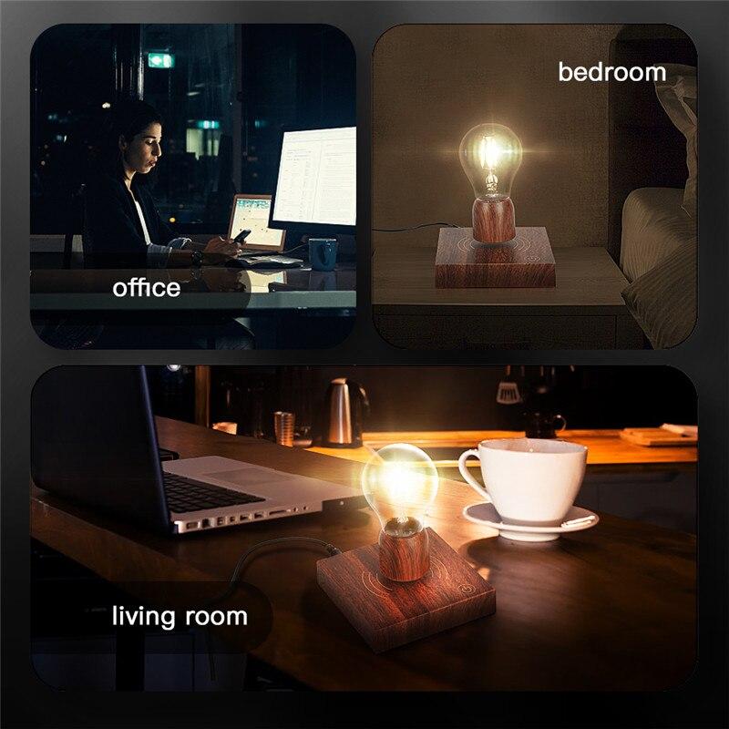 Magnetic Levitation Lamp Creativity Floating Bulb For Birthday Gift Magnet Levitating Light For Room Home Office Decoration enlarge