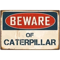 outdoor warning metal sign beware of caterpillar classic plaque wall decoration vintage tin retro metal signs letters art