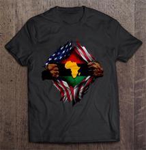 Men Funny T Shirt Fashion tshirt Africa Blood Inside Me South African American Flag Women t-shirt