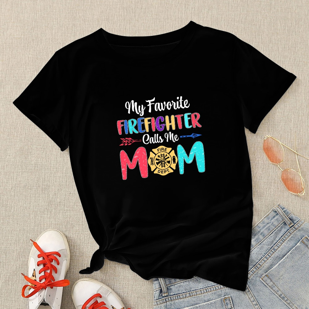 Mother Short Sleeve  Cool Printed Plus Size Tshirt Modern Tshirt Women Hot Selling Animation Pop Casual Round Neck Tee Shirts
