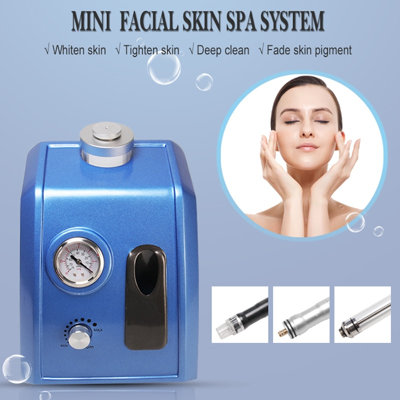 3 in 1 Small Bubble Oxygen Facial Water Peeling Diamond Hydra Microdermabrasion Deep Cleansing Machine Facial Peeling Equipment