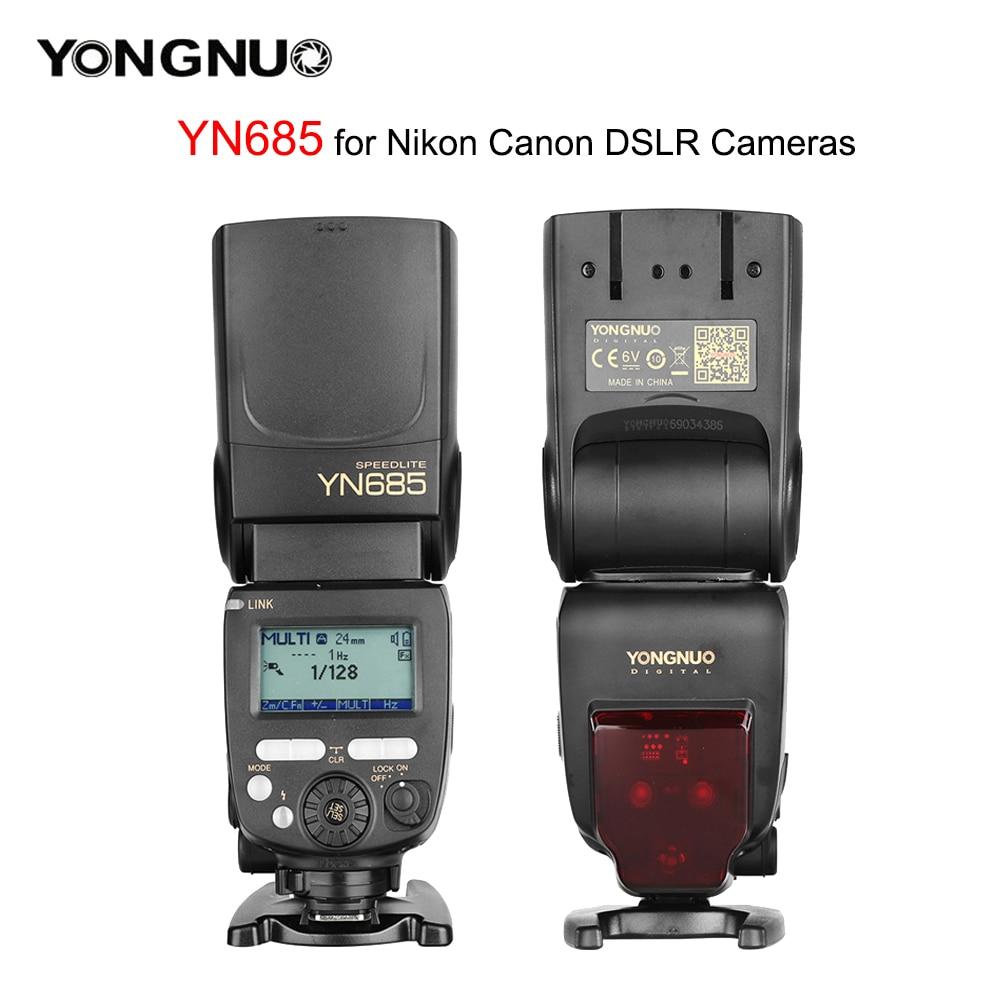 YONGNUO YN685 YN685N YN685C Camea flash 2.4G لاسلكي i-TTL HSS 1/8000S Speedlite YN622N راديو الرقيق لكانون لاستوديو نيكون