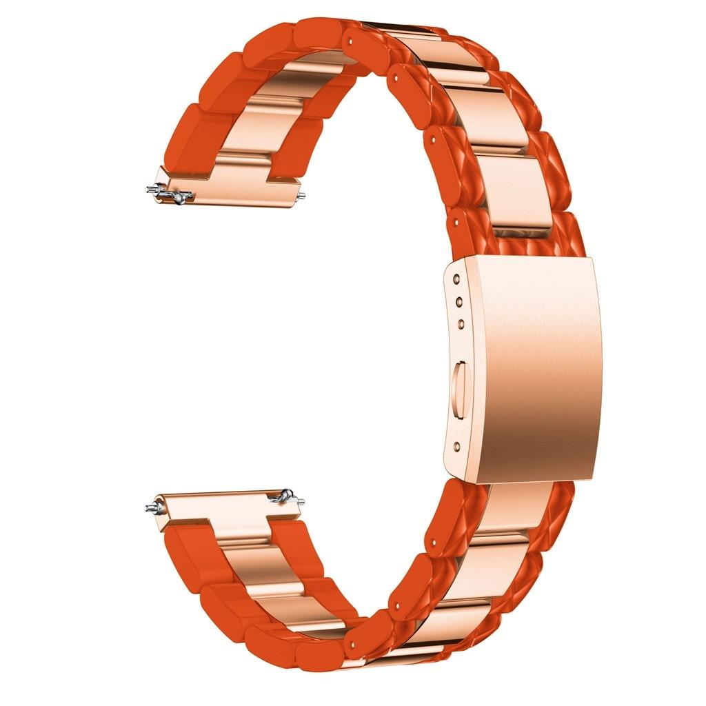 Correa de reloj Ouhaobin para Samsung Galaxy Watch de 42mm, correa de reloj de acero inoxidable de liberación rápida y fácil ajuste, reloj inteligente pulseira 1219 #2