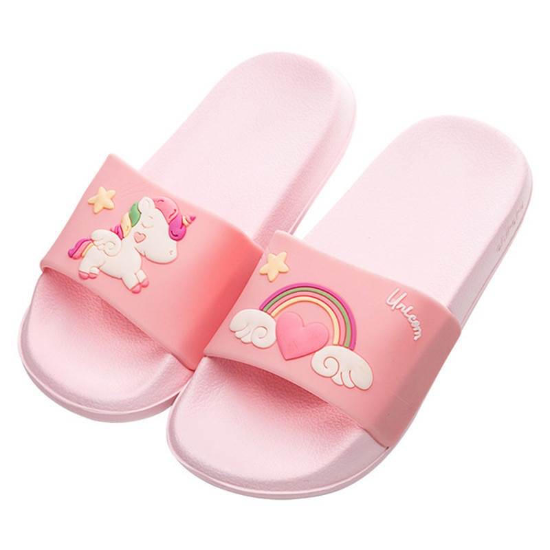 Suihyung Summer Girls Slippers 2020 New Women Beach Shoes Unicorn Flip Flops Soft Non-slip Ladies Casual Slides Platform Sandals