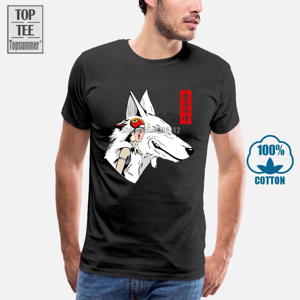 2019 nouveau été haute qualité t-shirt princesse Mononoke Studio Ghibli unisexe t-shirt Cool t-shirt