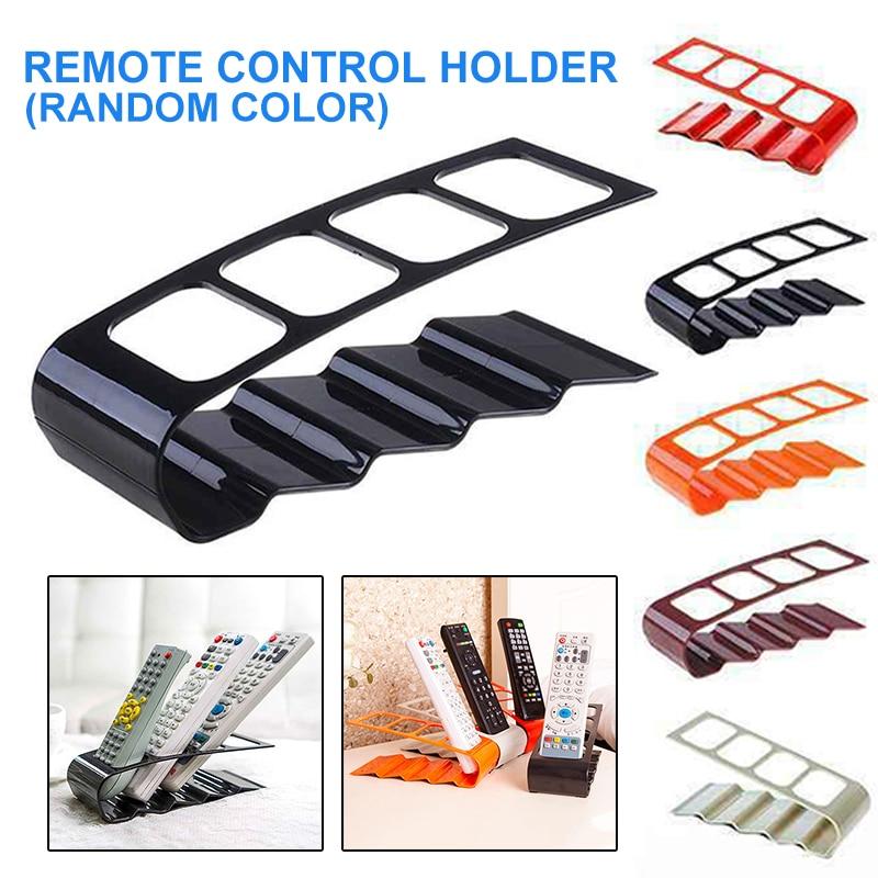Soporte para mando a distancia, 4 rejillas de plástico para TV, DVD, soporte estéreo con Control remoto, caja de almacenamiento duradera, organizador de oficina y decoración