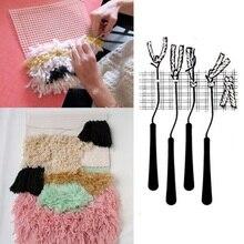 Outil de bricolage pour tapisserie tapis   Motif de bricolage, tapis à capuche, toile en bois courbée, loquet crochet, outil de bricolage, tapisserie tapis, broderie artisanat L
