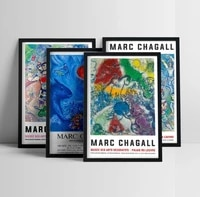 marc chagall circus artwork exhibition posters and prints wall art canvas painting for living room home decoration wall pictures