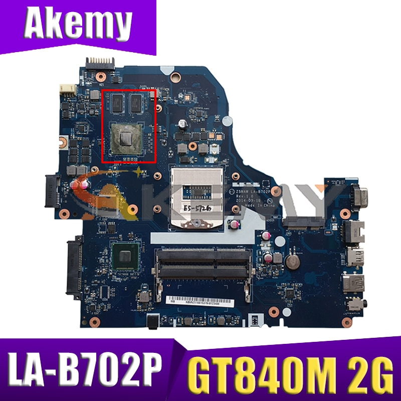 Z5WAW LA-B702P MB لشركة أيسر أسباير E5-572 E5-572G اللوحة المحمول مع HM86 GT840M 2G-GPU 100% العمل NBMV211001 ملحوظة. MV211.001