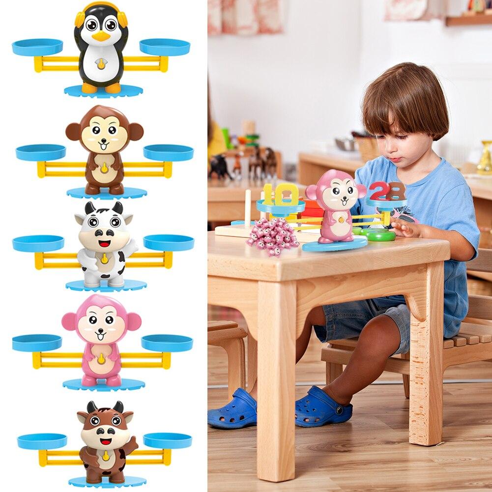 Монтессори, математическая игра, сбалансированные весы, счетные игрушки для детей, детский сад, образовательные цифры, забавный подарок для...