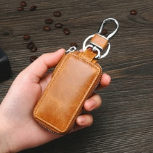Genuine Leather Car Key Case Key Unisex Wallet Men & Women Multifunction Organizer Fashion Ladies Ho