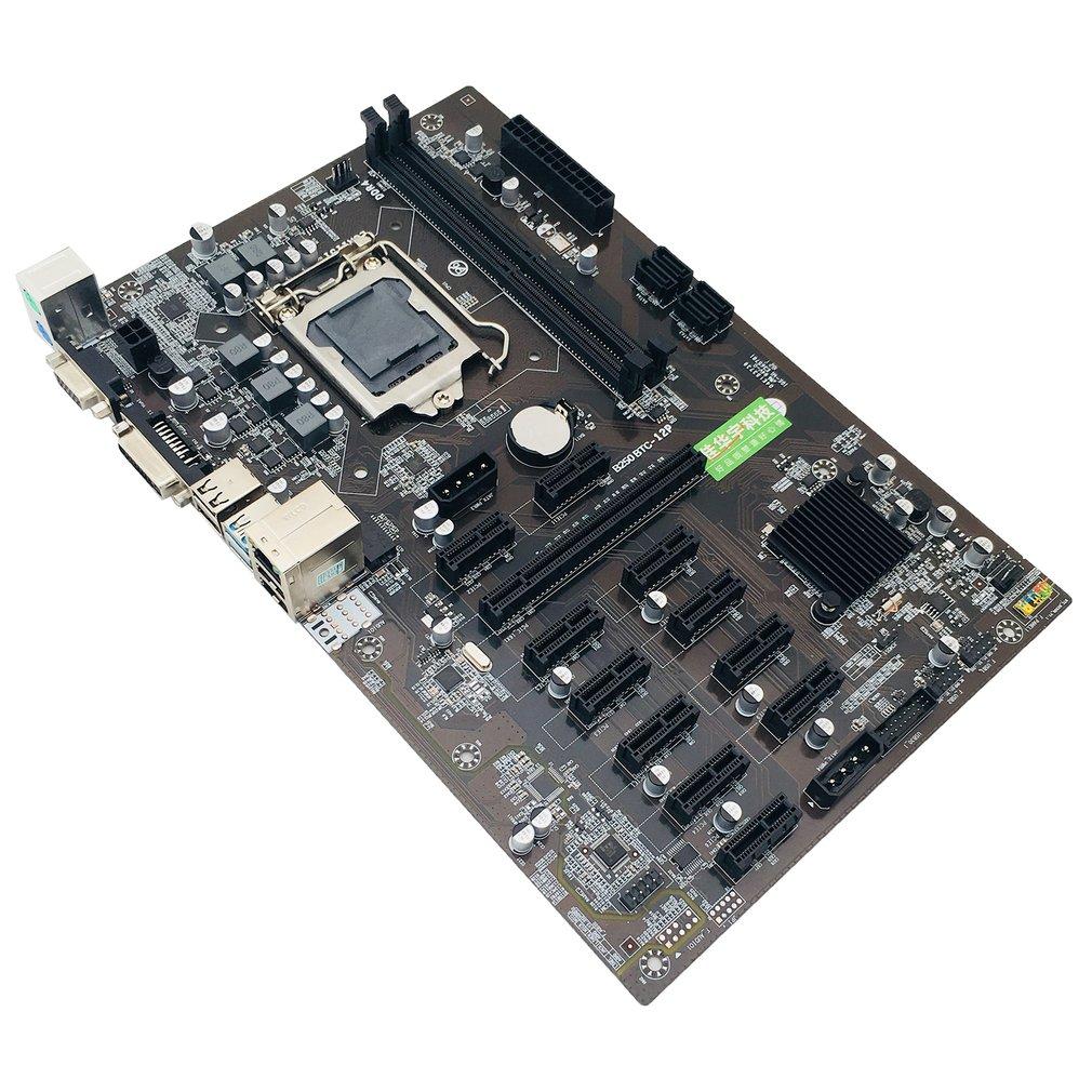For Asus B250 MINING EXPERT 12 PCIE Mining Rig BTC ETH Mining Motherboard LGA1151 USB3.0 SATA3 Intel B250 B250M DDR4 Maximum 16G