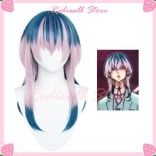 Tokyo Revengers Wig Rindou Haitani Cosplay Gradient Blue Pink Synthetic Long Straight Heat Resistant