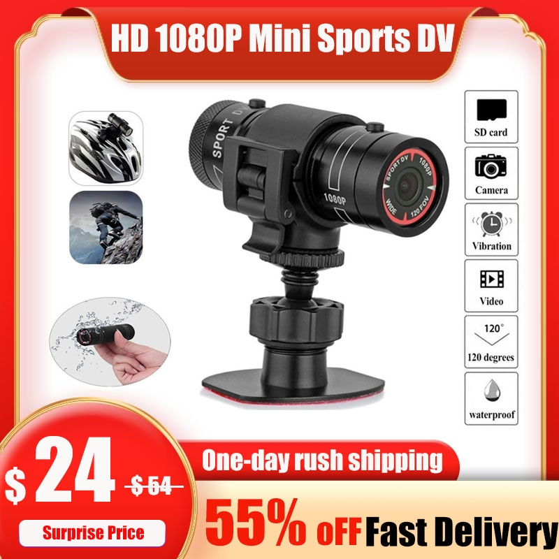 Спортивная мотоциклетная камера F9 для горного велосипеда, велосипеда, шлема, экшн мини-камера, DV видеокамера, Full 1080p HD Автомобильный видеоре...