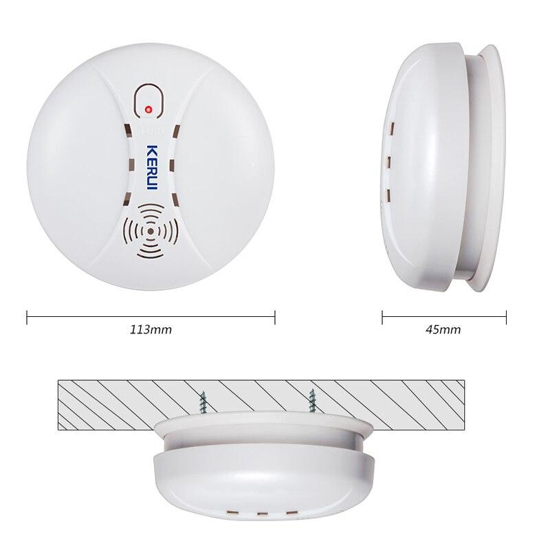 KERUI 5 stücke hohe qualität Drahtlose Rauchmelder Feuer Schutz Sensor Für Home Lager Shop GSM WIFI Sicherheit Alarm System