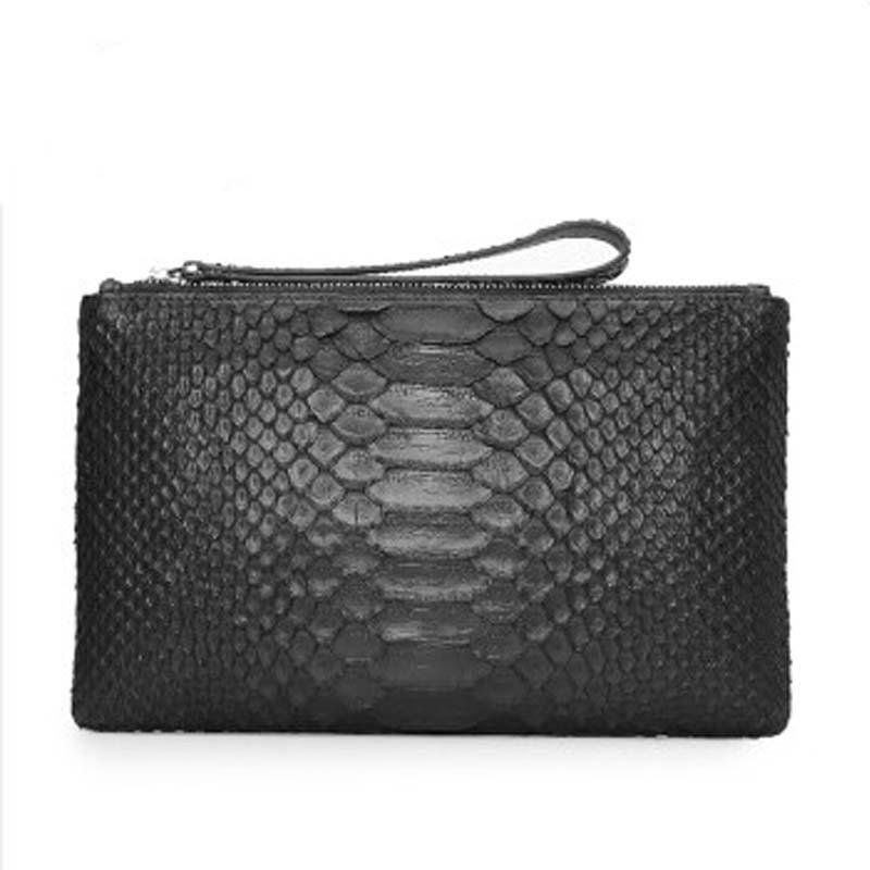 kaisadadi crocodile Leather man handbag fashion new snake skin men clutch bag wallet large hand envelope white