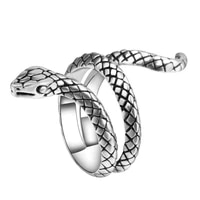 retro punk hip hop alloy snake ring fashion personality accessories adjustable opening jewelry gift