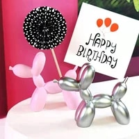 resin crafts sculpture gift cute small balloon dog party accessories home desktop ornament cake dessert decoration