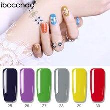 Barniz para manicura con diseño de arte en uñas, 80 colores, 10 Ml, esmalte en Gel en remojo, esmalte en LED UV, laca para esmalte de uñas, necesita capa superior para base 31-60