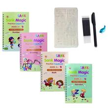 Magic Practice Copybook Reusable Handwriting Copybook Set Calligraphic Letter Writing Practice Workbook For Children