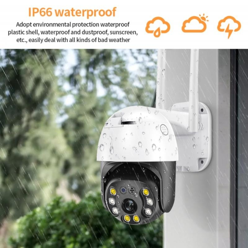 2MP Ptz Wifi Ip Camera 1080P Tuya Outdoor Security Cctv Camera Ai Human Detection Car Tracking P2P Wireless Night vision Camera enlarge