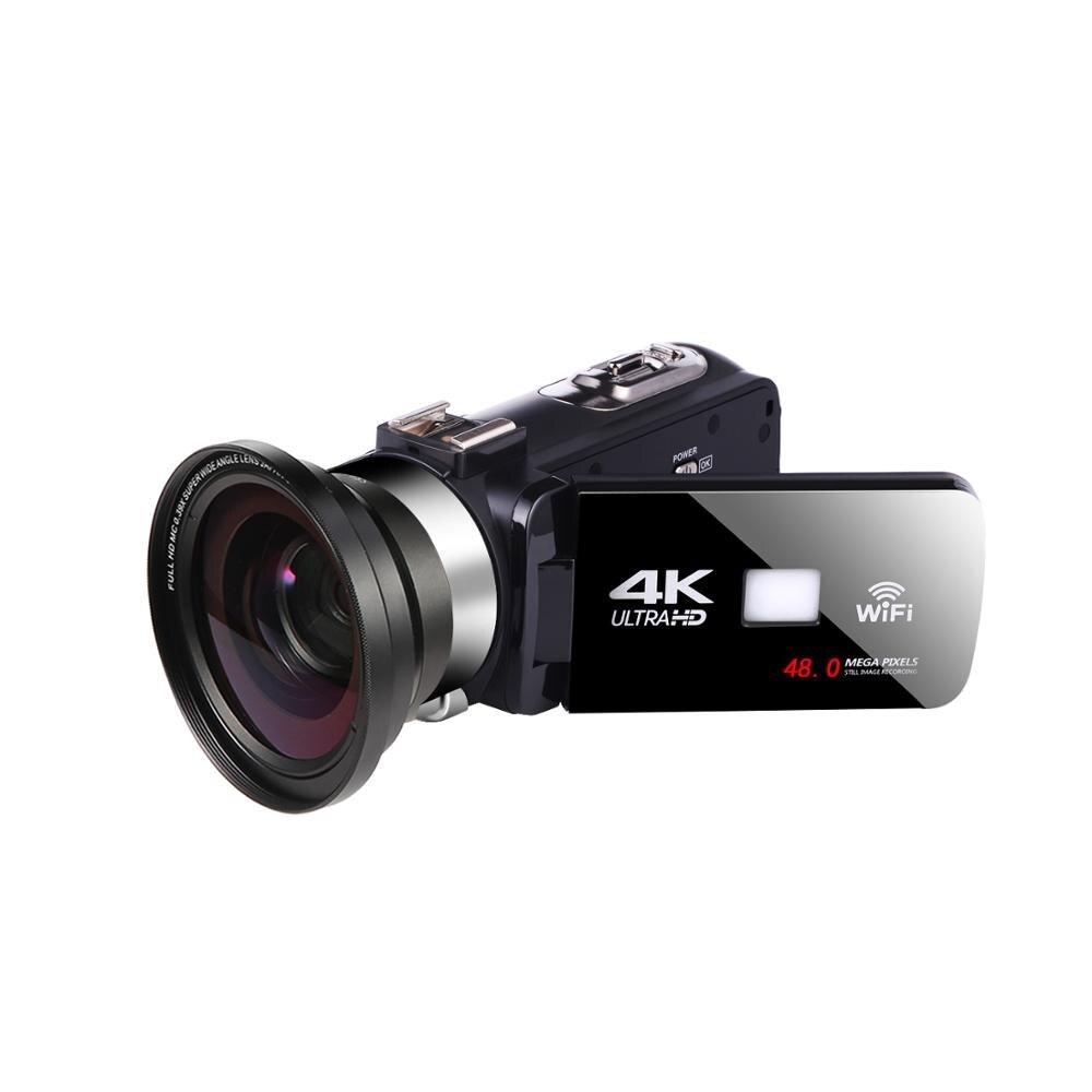Komery 4 k vídeo camcorder 48mp webcam tela sensível ao toque vlogging para youbute wifi nightshot câmera de vídeo digital