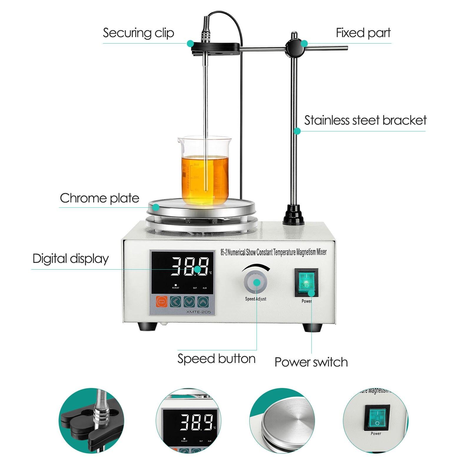 Magnet Stirrer With Digital Temperature Display 1000ML Magnetic Stirrer Bar Home Lab Homebrew Kitchen Stirrer enlarge