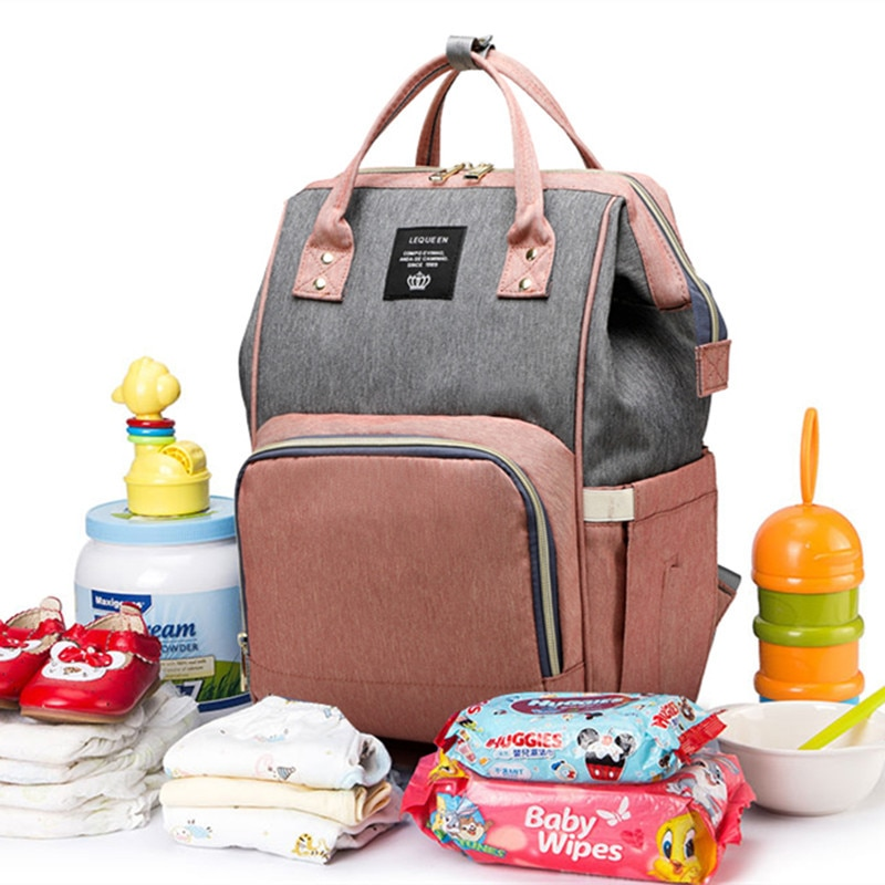 Nappy Mommy Bag Usb Rechargeable Shoulder Bag Mother Bag Mother And Baby Bag Multifunctional Large Capacity Outing Bag Backpack