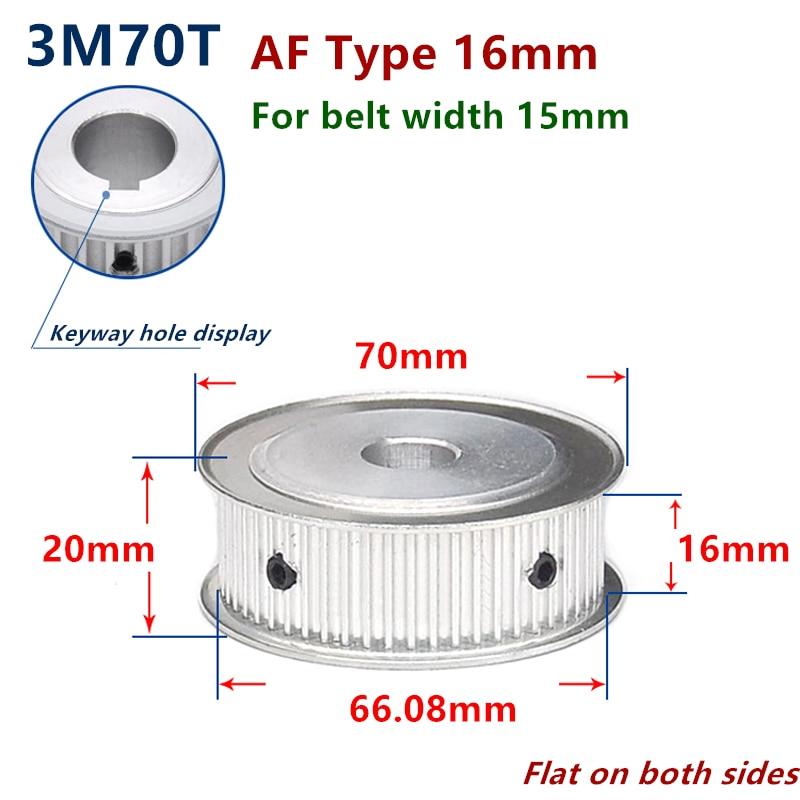 Personalizado HTD3M 70 dientes diámetro 40mm polea de distribución para ancho 15mm 3M correa síncrona HTD3M polea rueda de engranaje 70T