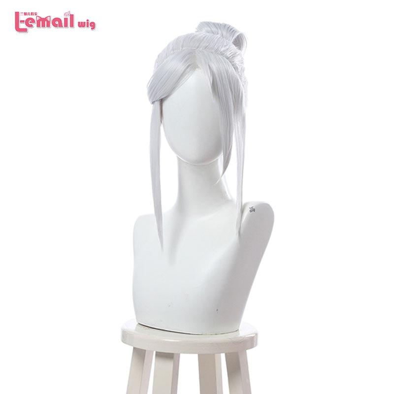 L-email парик игра Valorant Jett косплей парик серебристо-белый косплей парики Хэллоуин жаропрочные синтетические волосы Вечерние
