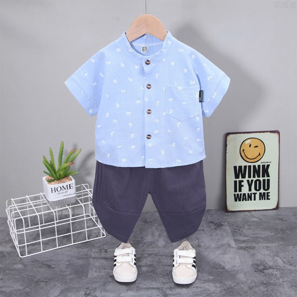 Baby Boy Clothes Set Kids Summer Costume Designer Cute Boutique Letter Free Shipping Elegant Outfits Pink Short Shirt+Pants 2pcs