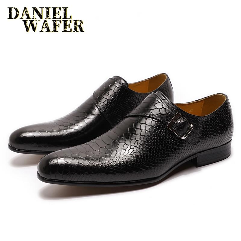 Мужская кожаная обувь; Мужская официальная обувь с принтом змеиной кожи; Повседневная модельная обувь; Цвет черный, кофейный; обувь без шнуровки с острым носком; мужские кожаные лоферы