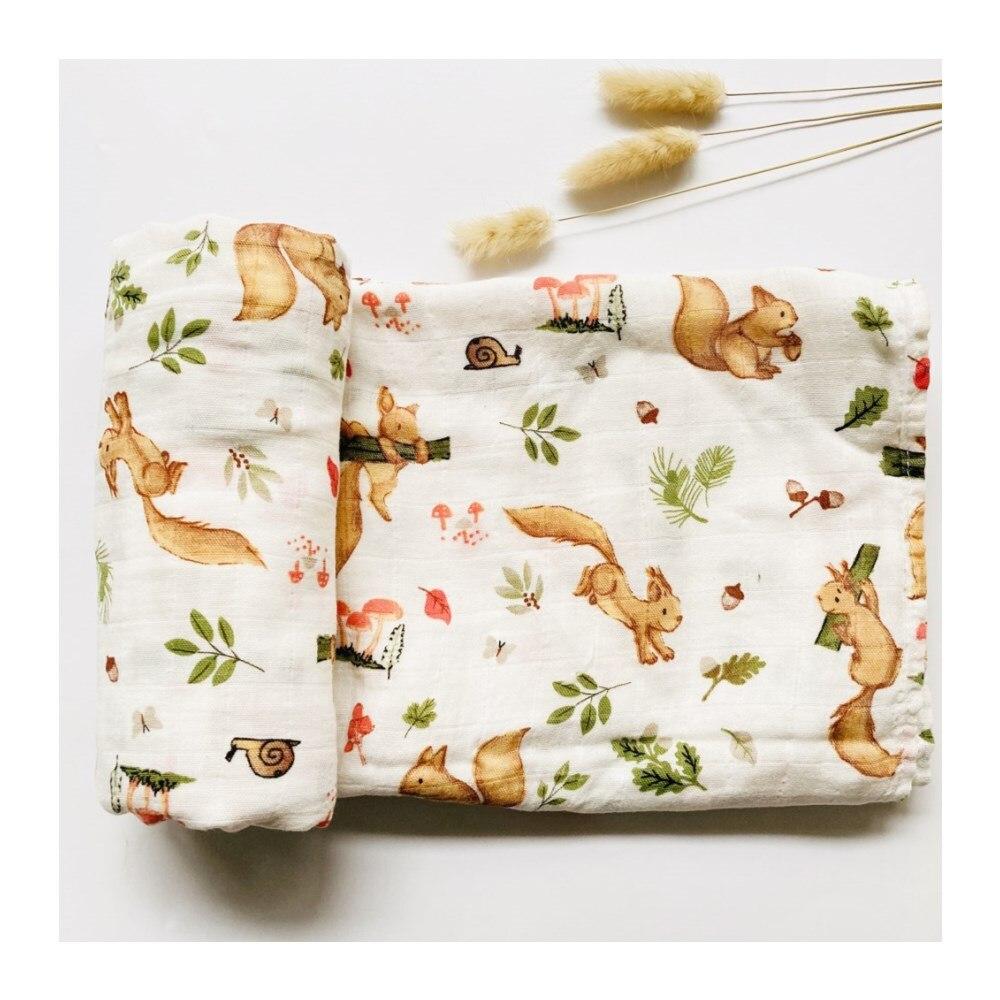 Squirre-Manta de muselina para bebé de 47x47 pulgadas, manta de muselina para...