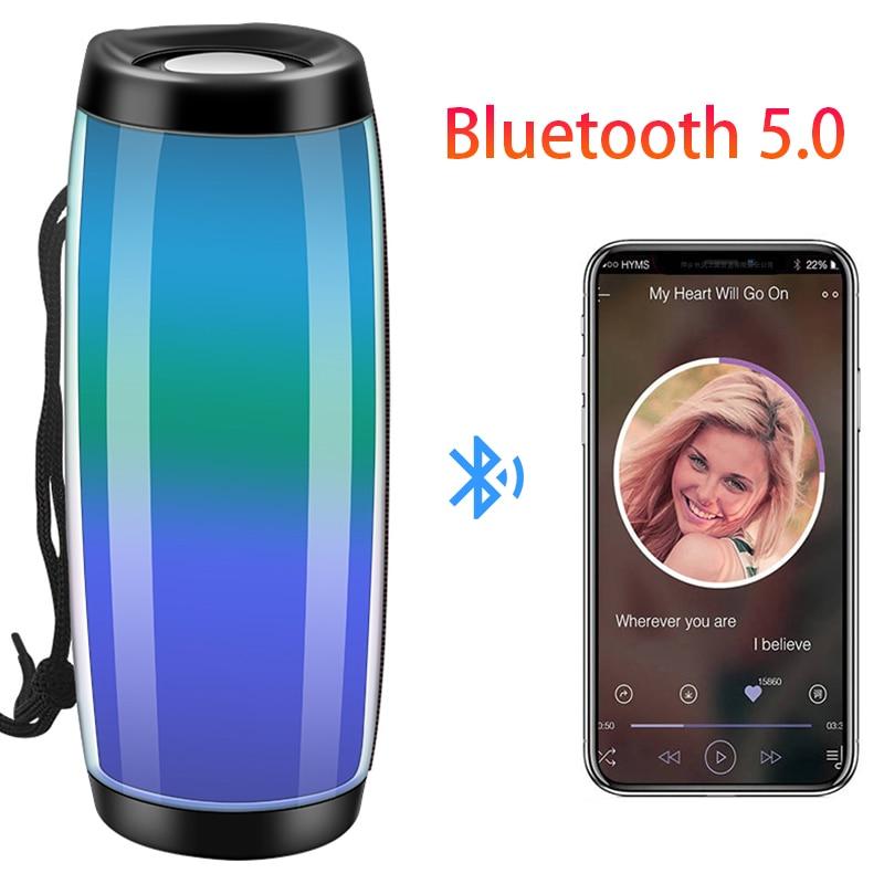 Altavoz portátil con Bluetooth y Radio FM, dispositivo De audio con Luz...