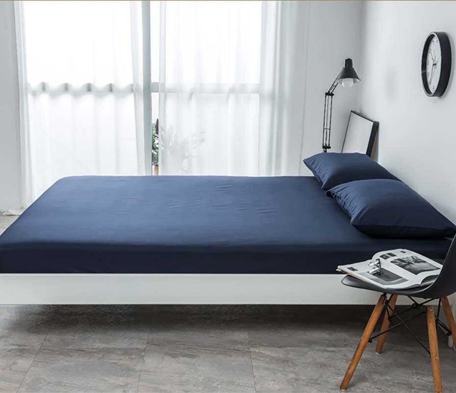 مفرش سرير ، ملاءة ، كيس وسادة ، ملفوفة بالكامل بزاوية قائمة ، طقم من أربع قطع ، قماش ناعم إسكندنافي ، لون نقي ، للمنزل