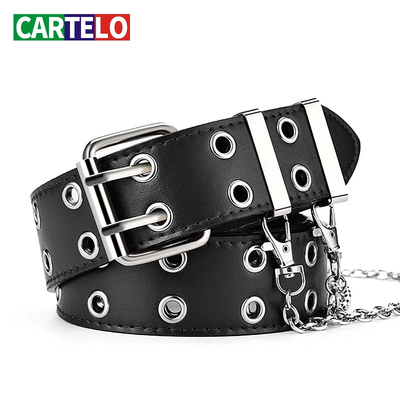 CARTELO Fashion Alloy women belt Belt Chain luxury for women belt Genuine Leather New style fashion