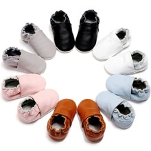 Baby Shoes Genuine Leather Soft Sole Newborn Booties Baby Boys Infant Toddler Shoes Moccasins Slippe