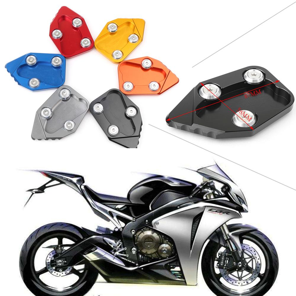Motorcycle CNC Kickstand Foot Side Stand Extension Enlarge Pad Support Plate For Honda CBR1000RR CBR1000 RR 2008-2016