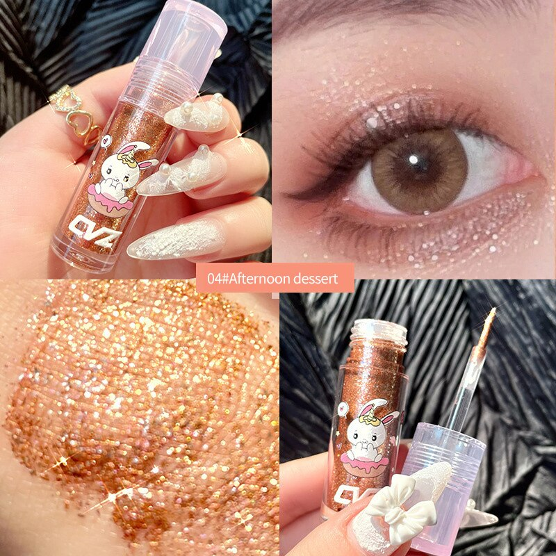 Liquid Eyeshadow Metallic Diamond Shiny Pearlescent Long lasting  Shimmer Pigmented Women Beauty Cos